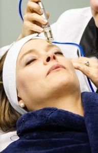 Woman During Microdermabrasion